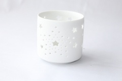 Matt White Ceramic Candle Holder