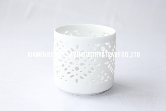 Lantern ceramic candle holder