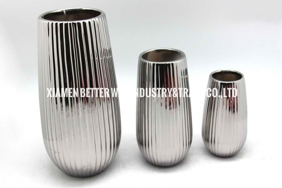 Tall stripe golde planter