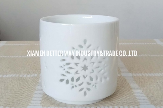 white candle holders